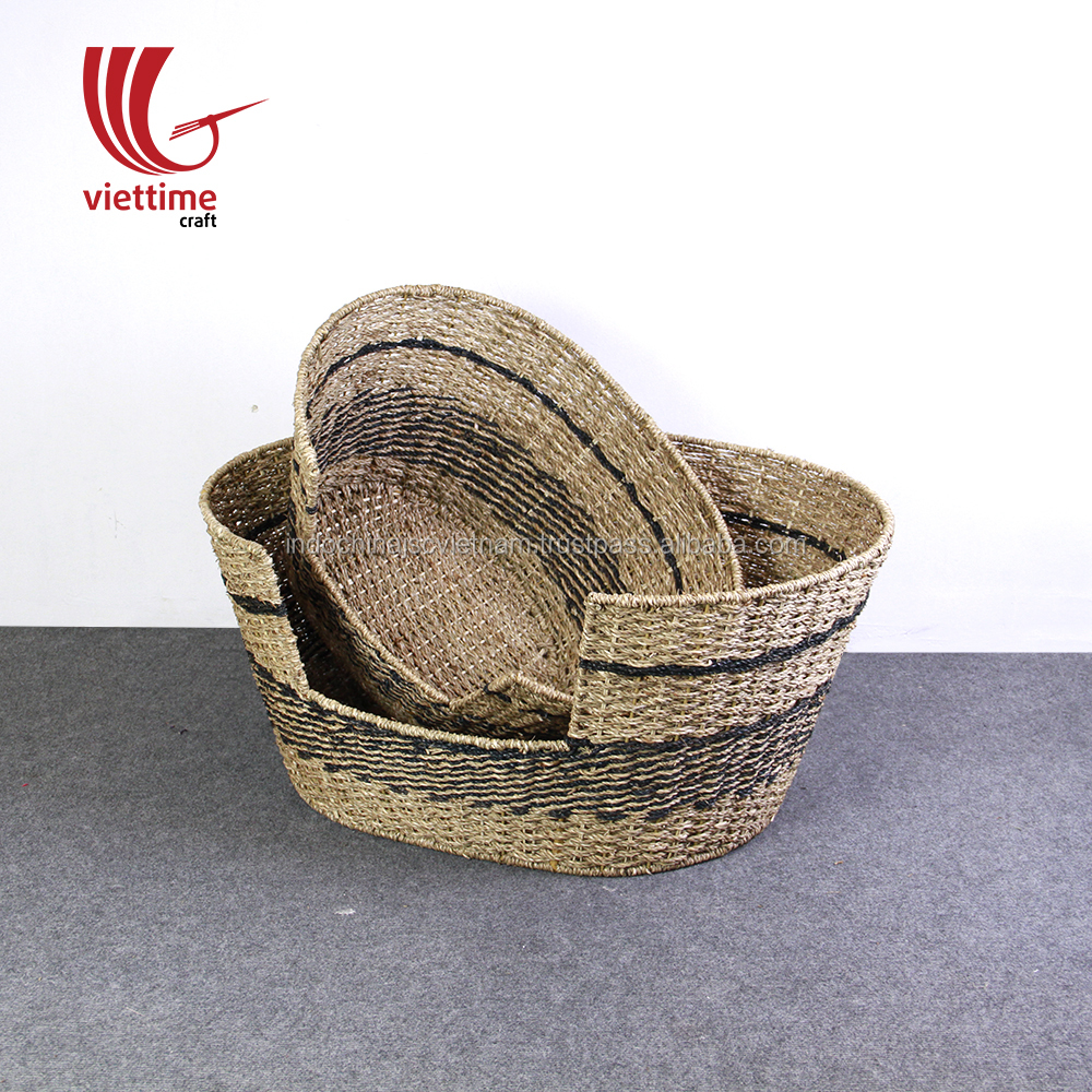 Set of 2 seagrass dog bed/ pet bed house wholesale in cheap price