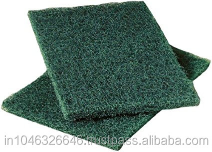 Square strong cleaning green scrubber scouring pads