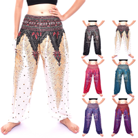 Peacock Egg Printed Harem pants, Yoga pants, Thai pants