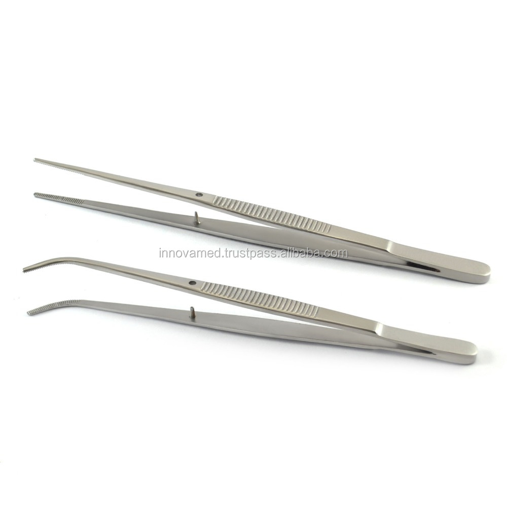 Dental Surgical Instruments Semken Serrated Dressing Tweezers Straight & Curved