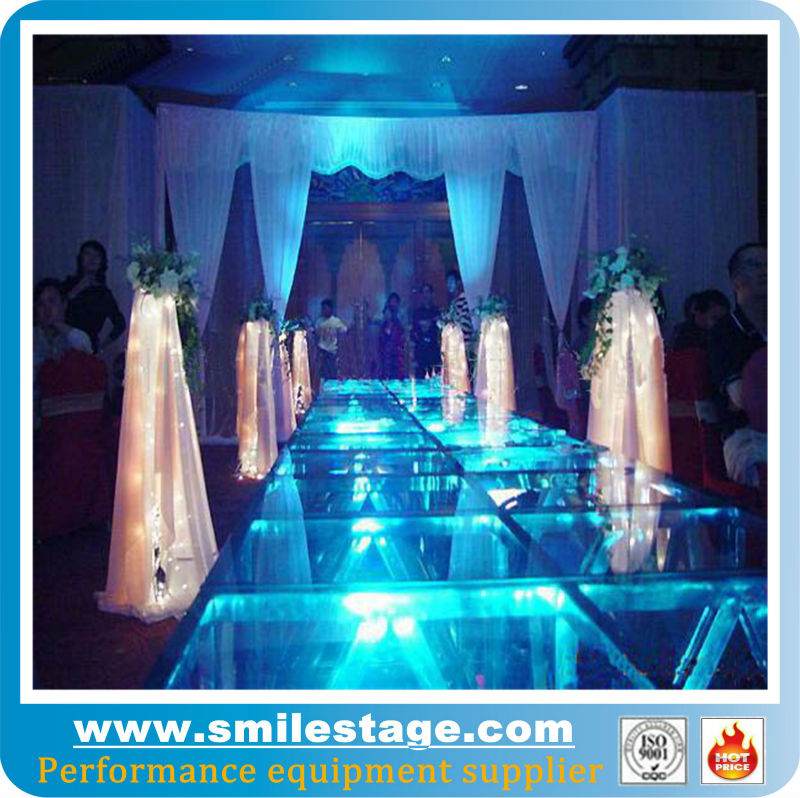 stainless steel fashion indoor/outdoor crystal wedding stage on display