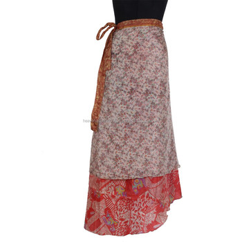 SW002 2016 New Arrival Ladies Wrap Silk Skirt