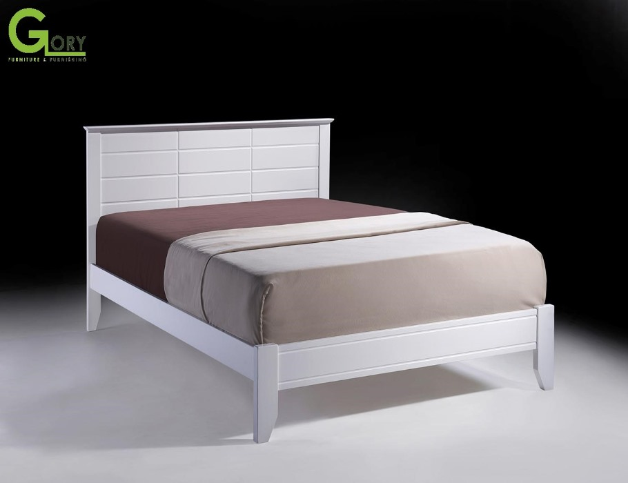 Wooden Double Bed, Wooden Furniture, Nerine Double Bed