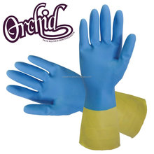 flock lined latex hand protection custom printed glove