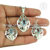 Exquisite beauty blue topaz gemstone jewellery set handmade 925 sterling silver jewelry wholesaler jaipur