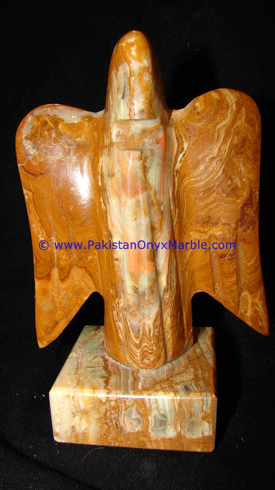 FACTORY PRODUCUNG ONYX MARBLE ANGLE STATUE