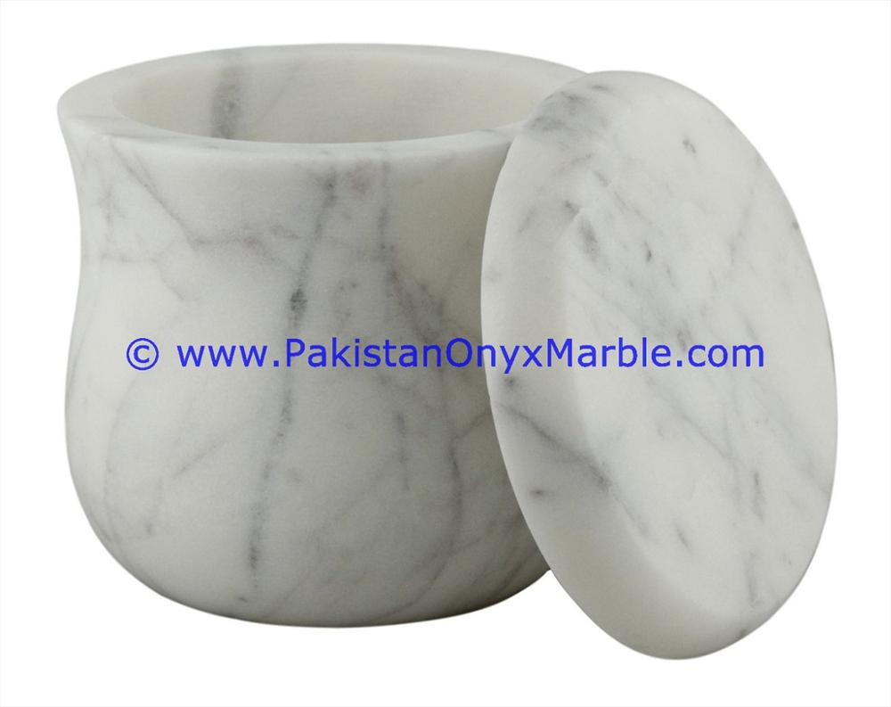 arabic style cheap price marble jars ziarat carrara white marble handcarved lid sugar candy ginger