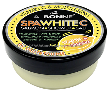 A Bonne' Spa White C Salmon Shower Salt Scrub 350 g.