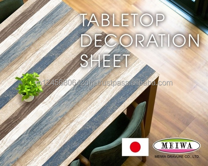 Table decoration sheet by Meiwa Gravure made in Japan [search word->>] nursery school desk and chair