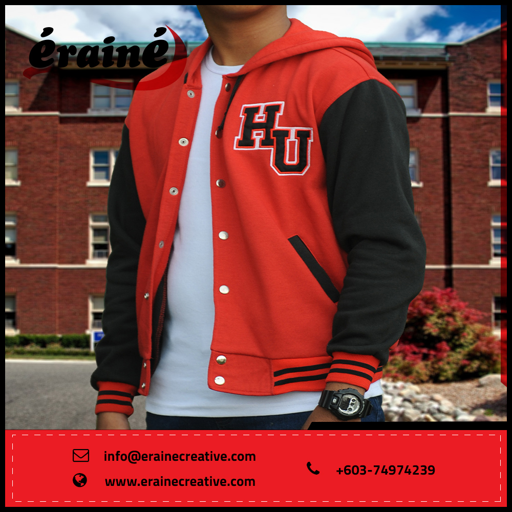 Custom-made letterman baseball varsity jacket