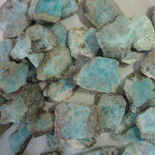 Larimar AAA Gemstone Rough Raw Material natural stone Semi Precious Stones