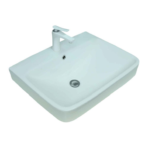 Rectangular Clay Countertop or Semi-reccesed Vanity Washing Basin