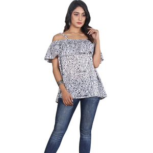 Indian supplier women clothing 2018 Short sleeve casual lady dresses Ladies Top