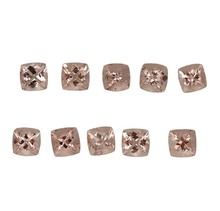 cushion cut wholesale lot natural pink peach morganite prices