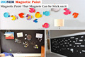 Isonem Magnetic Wall Paint (Magnets Sticks on Magnetic Wall Paint)