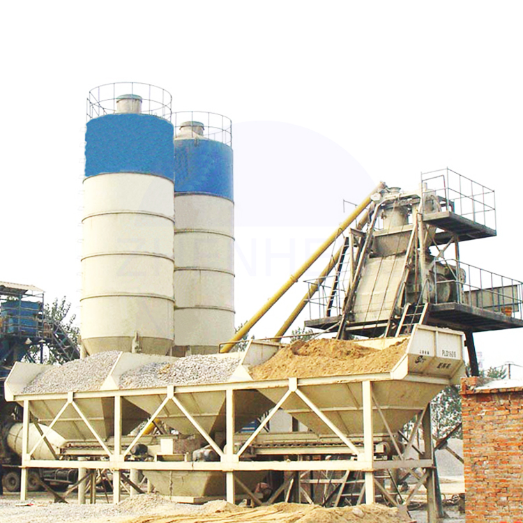 Low Cost HZS60 60m3 per Hour Harga Ready Mix Concrete Batching Plant