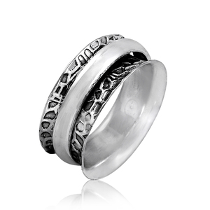 Prominent fashion plain silver spinner finger ring 925 sterling silver jewelry supplier handmade rings wholesaler