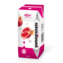 Manufacturer soft drink 200ml prisma pack fruit juice - Pomegranate juice