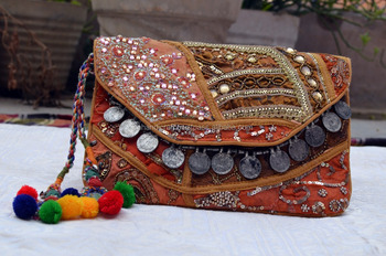 boho clutch ladies boho hand clutch hippie bag indian tribal bag ladies fashionable handmade indian bags indian embroidery bag