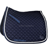 Black colour Protective Comfort Cotton quilted Dressage horse saddle Pad