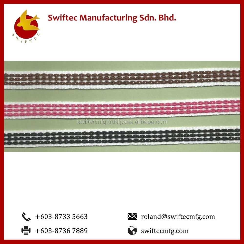 High Quality Cotton Bias Twill Tape 3D (Center Emboss)