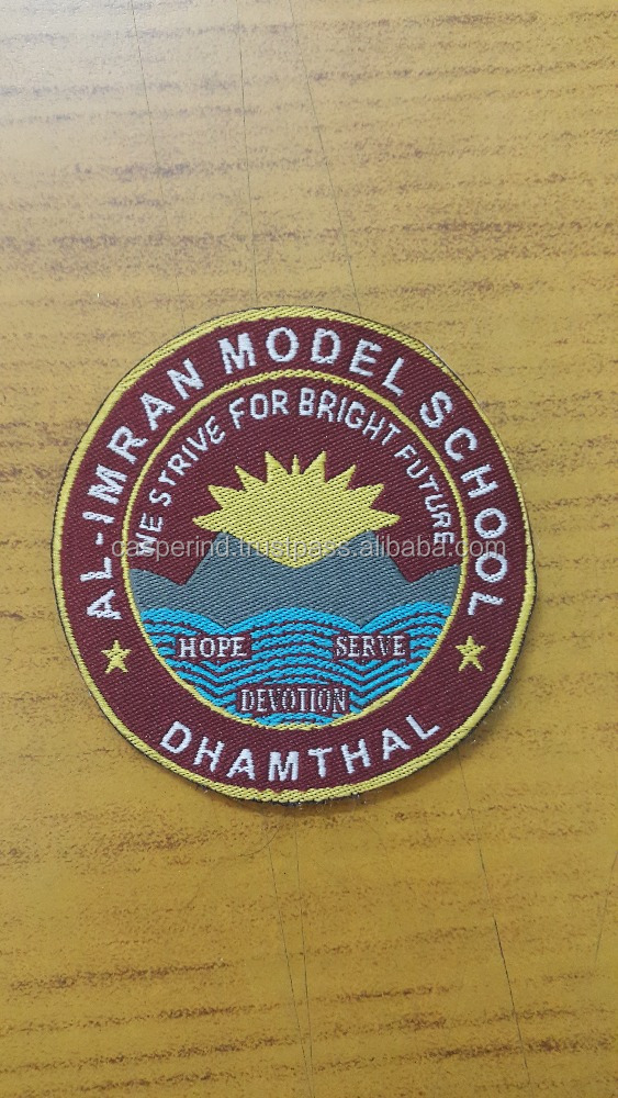 High Quality multi functional custom latest design Woven label / Customized woven patch embroidery
