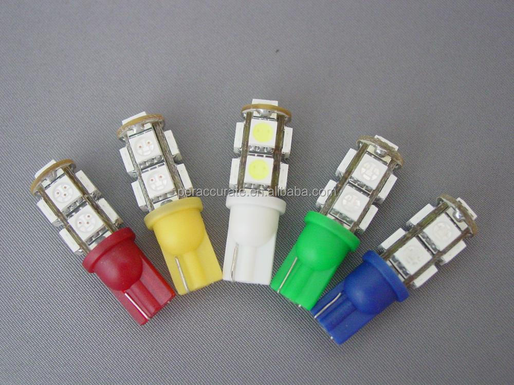 PA Various Color 9 SMD 5050 LED with T10 555 Wedge Base For Car Auto Sidelight Turn Tail Rear Light Lamp Bulb