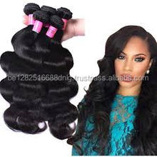 Wholesale 9a grade 100% virgin remy human hair extensions body wave brazillian hair with closure