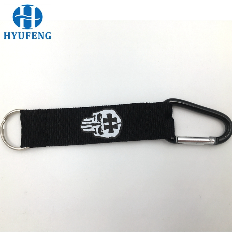 Black Color 40mm 50mm 60mm Mini Carabiner with Strap