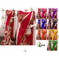 Best quality printed silk saree with embroidery blouse