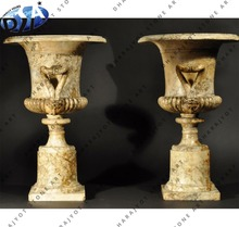 2 pair gold granite semi polished flower pot