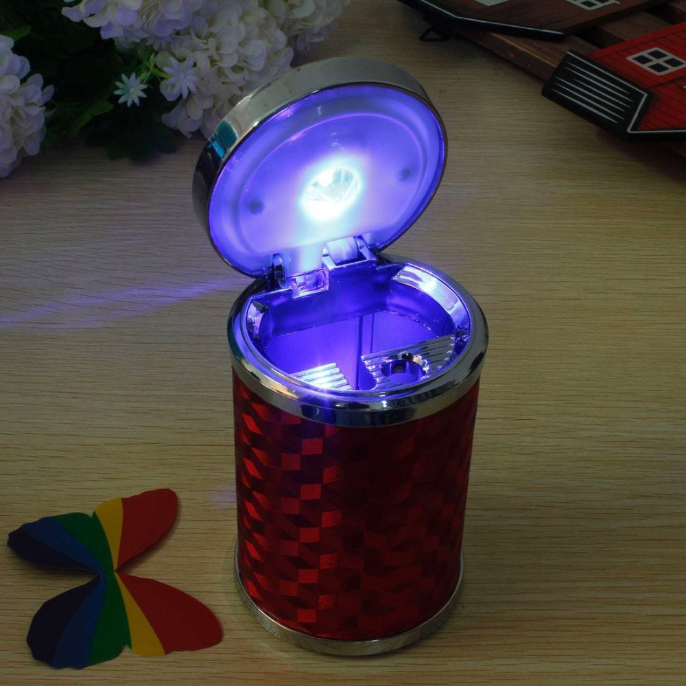Buy Original AUDEW Auto Car Portable Travel Blue LED Lamp Red Cigarette Smoke Ashtray Holder Cup