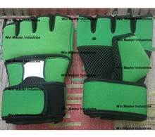 Weight Lifting Gloves green and black MMA gloves neoprene wrapped bulk wholesale prices