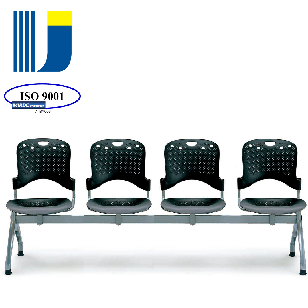 4-seater lobby waiting area furniture chair for hospital school waiting area 66-4P