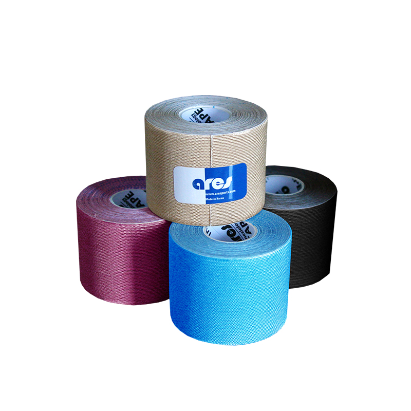 ARES skin-friendly high quality Kinesiology sports tape ce fda ISO9001 precut multi-sized multi-color waterproof OEM wholesale