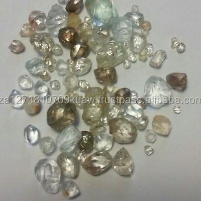 Natural uncut white rough diamond