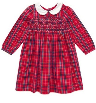 Christmas Children Red Smoking Dress For Baby Girl