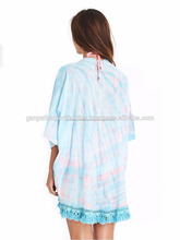 Summer's Girls Beachwear Sexy Looking Rayon Tie & Dye Kimono Cardigan Beach Coverups