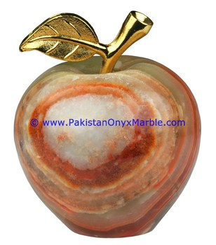 Exquisite Apple Seven Different Color Available Onyx Sculpture Carved Art Crafts And Gifts