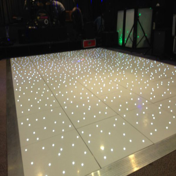Wedding decorations light up interactive starlit used led dance floor