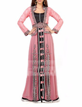Magnificient Pink Jacket Style Embroidered Marriage Caftan pakistani dress for women