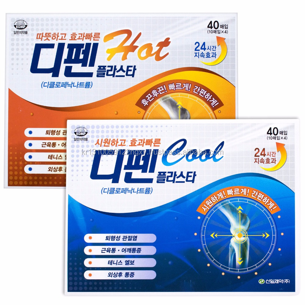 DIFEN Medicated Pain Relief Patch for Back Pain Relief Tennis Elbow Diclofenac Patch SINIL Pharmaceutical Co.