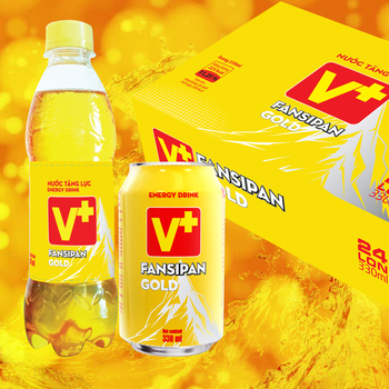 Fansipan Gold - Energy drink from Vietnam 24can
