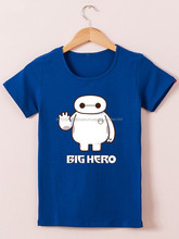 Kids Blue Big Hero Design Printed Shirt Round Neck T-Shirt