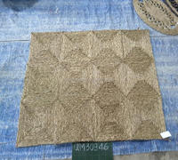 Square shape natural seagrass beach mat high quality wicker carpet safety handmade rattan picnic mat