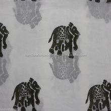 By one Yard Hand Block Print Cotton Fabric, Jaipuri Print fabric Animal Printed
