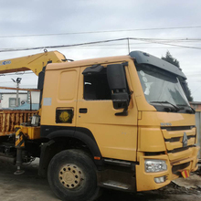 Top Quality used HOWO Truck with Crane/ used 8TON truck mounted crane