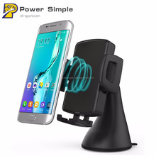 Phone Holder Fast Qi Charging Car Stand Wireless Charger for iPhone X 8 Plus