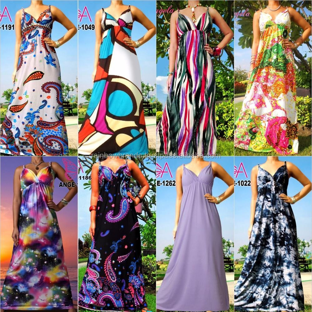 Angela New Women Summer Beach Sundress Evening Long Maxi Dress Size US