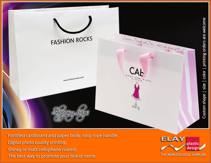 Carton paper bag for shopping or gift